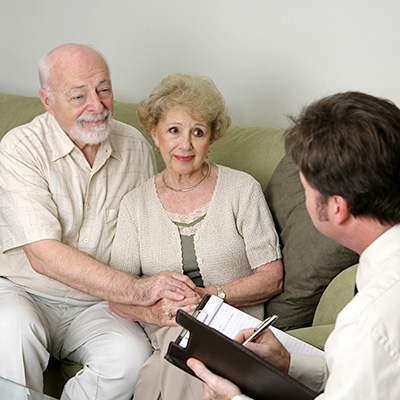 Medicare Insurance Agent helping Senior Citizens understand their options